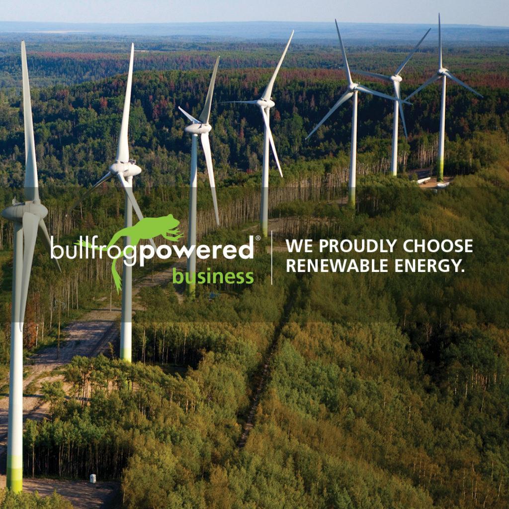 Bullfrog Powered Business - We Proudly Choose Renewable Energy.